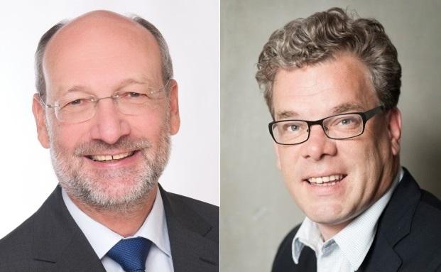 Alexander Ficht (links) vom DVVS und Bund der Fachberater und Malte Dreher vom private banking magazin