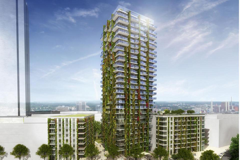 Frankfurter Hochhaus wird grün: Hängende Gärten für Tower 90