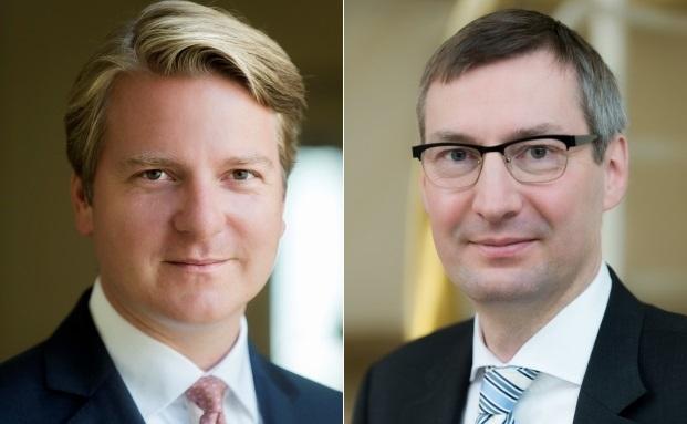 Co-Investmentchef Lars Edler (l.) und Chefvolkswirt Martin Moryson vom Bankhaus Sal. Oppenheim