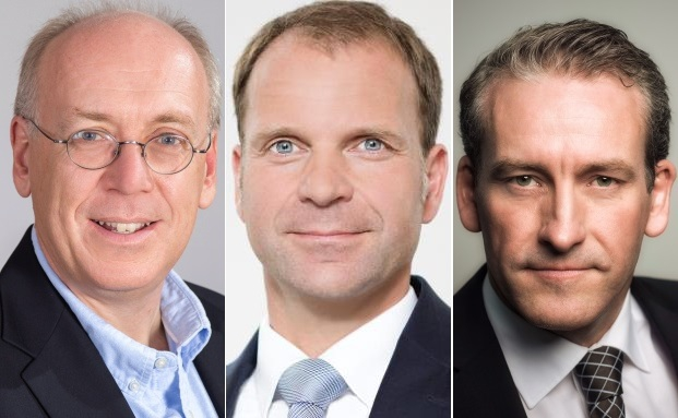 Steuerberater Oliver Schultze (l.), Family Officer Ralph Kempcke und Rechtsanwalt Michael Olfen