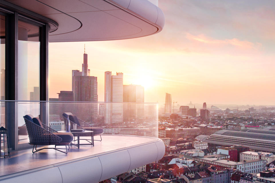 """Deutschlands höchstes Wohnhochhaus: """"Grand Tower"""": 25 Prozent der Wohnungen sind bereits reserviert"""