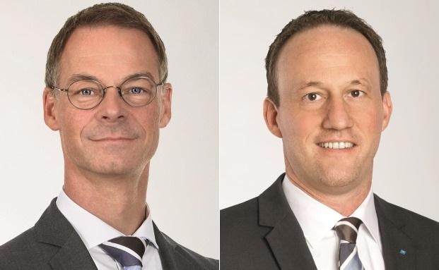 Der bisherige und der künftige Leiter Private Banking der Südwestbank: Heinrich Hartmann (li.) und Michael Huber