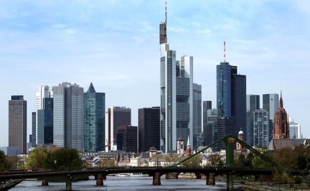 Die Skyline von Fankfurt am Main
