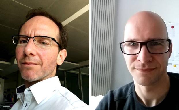 Im Streitgespräch per E-Mail: Marc Radke (l.) und Andreas Harms