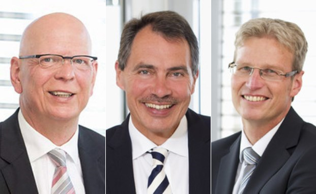 Die KHP-Geschäftsführer (v.l.) Wolfgang Pieper, Manfred Stock und Thomas Hans