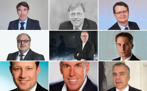 Geben ihre Meinung zu einem möglichen Brexit ab: (von links oben nach rechts unten): Andreas Meißner, Peter Schneider, Michael Mertz, Wolfram Neubrander, Thomas Lange, Andre Koppers, Christian Mallek, Joachim Berlenbach, Carl Otto Schill.