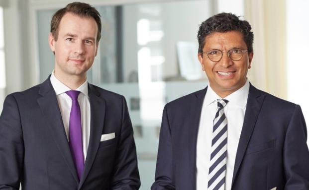 Vorstandssprecher Alexander Daniels (r.) und Prokurist Christian Gritzka von der Hamburger Knapp Voith Vermögensverwaltung
