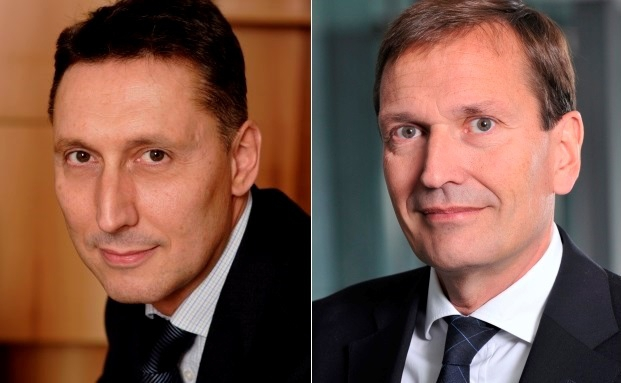Nicolas Chaput (l.), Vorstandsvorsitzender der Oddo Meriten Asset Management und Werner Taiber, Vositzender des Aufsichtsrats