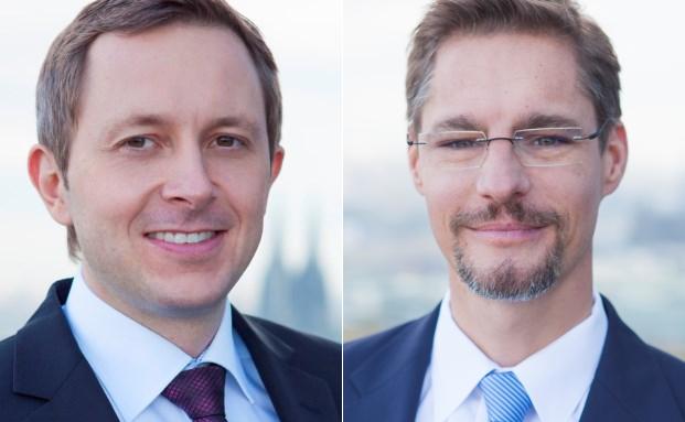 Die beiden Geschäftsführer von RP Rheinische Portfolio Management: Stefan Gretschel (l.) und Christian Roch