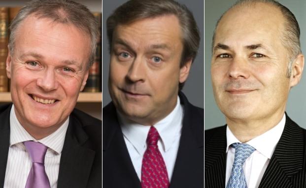Huber, Reuss & Kollegen-Geschäftsführer Friedrich Huber (v.l.), Loys-Vorstand Christoph Bruns und Flossbach von Storch-Vorstand Kurt von Storch