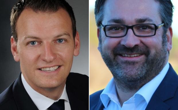 Der stellvertretende Leiter des iShares Vertriebes Deutschland, Christian Bimüller (li.) und der Gründer der MK Anlegergesellschaft, Markus Köppl