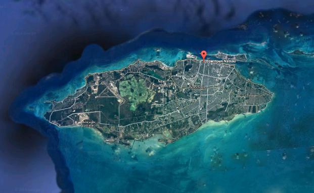 Auch hier ging in den vergangenen Monaten ein neues Family Office an den Start: Die zu den Bahamas gehörende Insel New Providence|© Google Maps