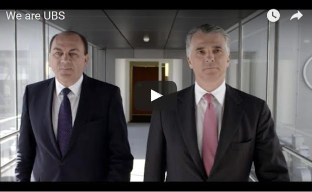 UBS-Präsident Axel Weber (li.) und Vorstandschef Sergio Ermotti im neuen Promo-Video der Schweizer Großbank