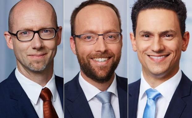 Boris Piekarek (v.l.), Morgan Hangartner und Philipp Meier