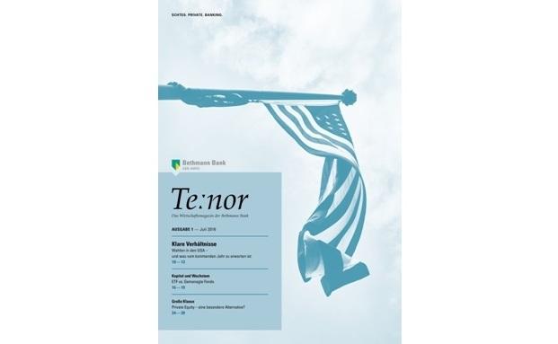 Cover des neuen Wirtschaftsmagazins Te:nor der Bethmann Bank