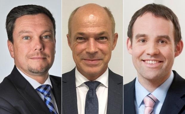 Die drei Neuzugänge der Deutschen Oppenheim Family Office (v.l.n.r.): Thomas Krahl, Stefan Riederer Freiherr von Paar und Mario Kuppe