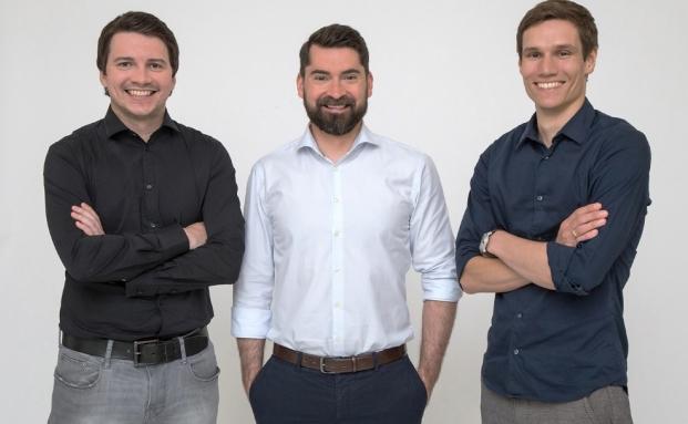 Die Cashpresso-Gründer Jörg Skornschek (v.l.), Daniel Strieder und Michael Handler