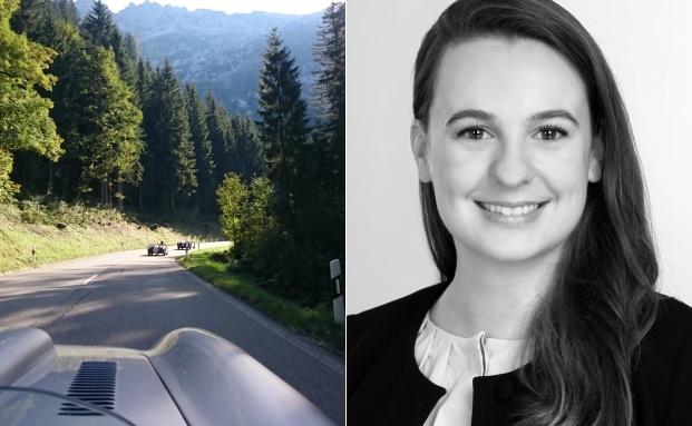 Impression vom Hiscox Rossfeldrennen 2016 (l.), Alina Sucker, Leiterin Produkte Classic Cars bei Hiscox