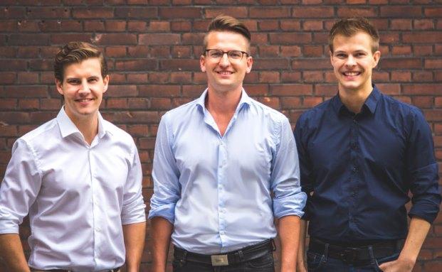 Die Fintech-Gründer: Oliver Matyschik (v.l.n.r.), Arthur Vott und Jörn Schimanski