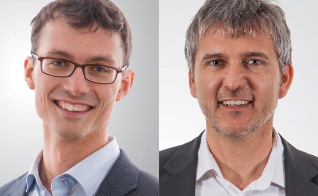 Neuzugang Sascha Seiler (li.) und Knoesel & Ronge Gesellschafter Jochen Knoesel