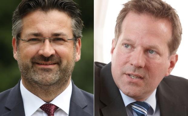Markus Köppl (li.), Gründer der MK Anlegergesellschaft und Marc Bohling, Leiter des Bereiches unabhängige Vermögensverwalter der Bethmann Bank.