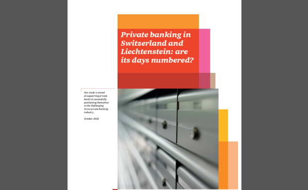 "Die Studie ""Private banking in Switzerland and Liechtenstein: are its days numbered?"" von PWC Schweiz"