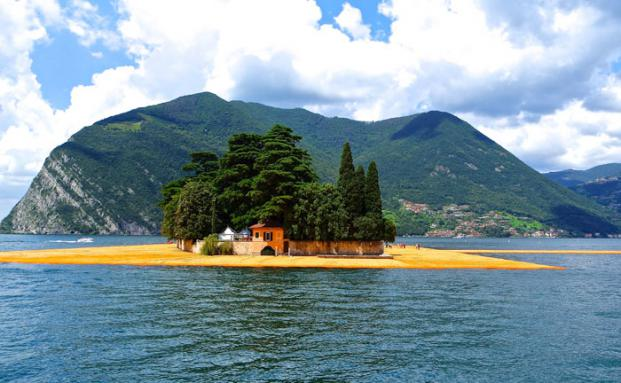 Christos Floating Piers am Lago d´Iseo
