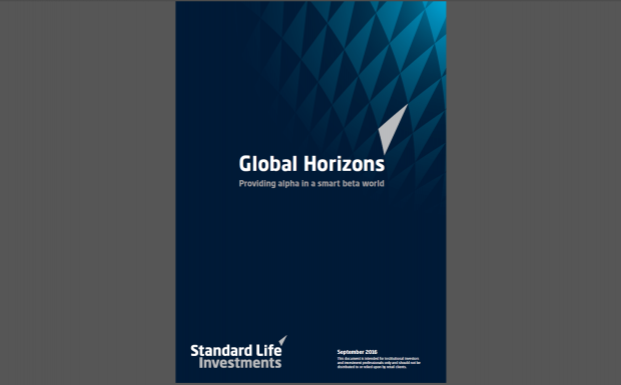 "Die aktuelle Ausgabe der Publikation ""Global Horizons"" von Standard Life Investments mit dem Thema ""Providing Alpha in a Smart Beta World"""