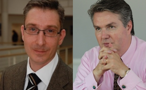 André Schmidt (links), Professor der Uni Witten-Herdecke, und Christoph Weber, Geschäftsführer des Family Offices WSH