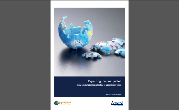 "Die Amundi-Studie ""Expecting the unexpected: How pension plans are adapting to a post-Brexit world"""