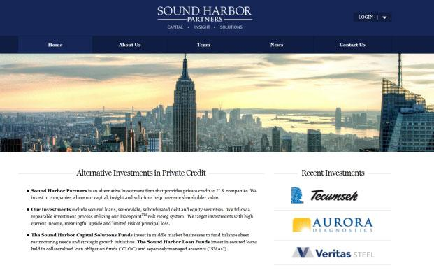 Screenshot des Webpräsenz von Sound Harbor Partners