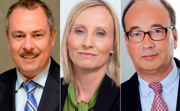 Drei der zehn befragten Personalberater: Uwe Krönert (l.), Anja Florack und Volker-Christian Helkenberg