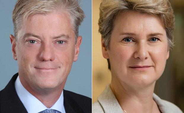 Philip Milne (l.) und Elly Hardwick|© Deutsche Bank AG
