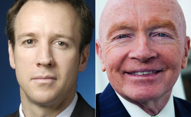 Dale Nicholls (l.), Fondsmanager des Fidelty Pacific und Mark Mobius von Franklin Templeton