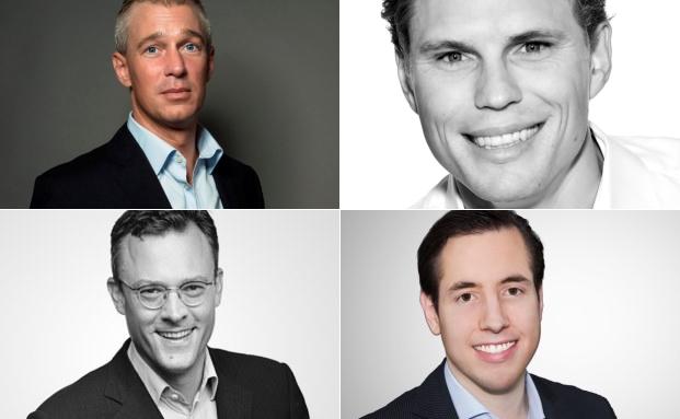 Von links oben nach rechs unten: Christian Schneider-Sickert, Mitgründer von Liqid; Erik Podzuweit, Mitgründer von Scalable Capital; Karl Matthäus Schmidt, Gründer von Quirion und Ginmon-Gründer und Geschäftsführer Lars Reiner