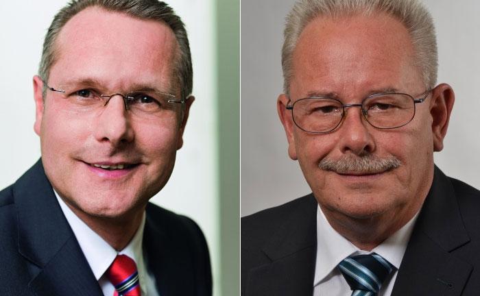 Monega-Geschäftsführer Bernhard Fünger (l.) und Neuzugang Volker Pantel