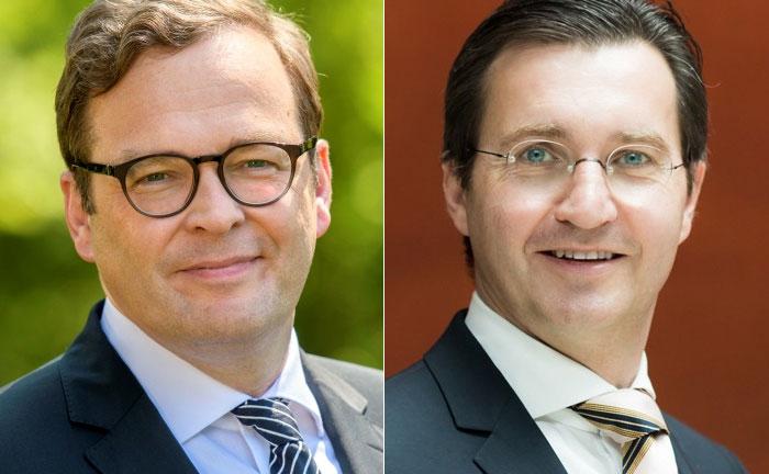 Marcus Vitt (i.), Vorstandssprecher von Donner & Reuschel und Marcus Böhm, Chef von Speedlab