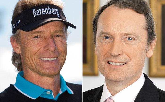 Bernhard Langer (l.) und Berenberg-Chef Hans-Walter Peters