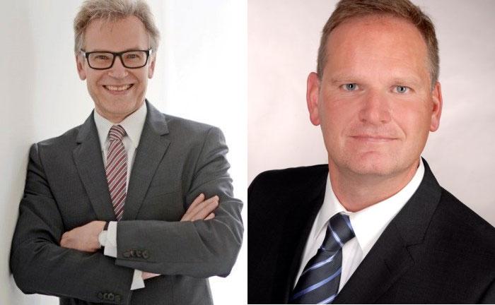 Neuzugang Peter Paschmanns (l.) und der Düsseldorfer Niederlassungsleiter Thomas Kleffmann