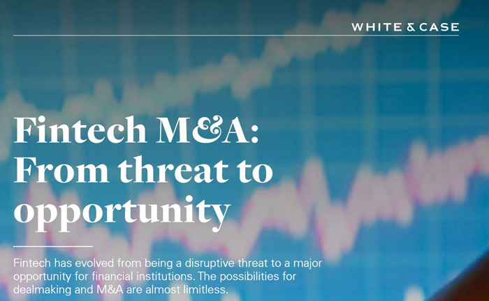 "Der M&A-Report zur Fintech-Branche von White & Case: ""From threat to opportunity"""