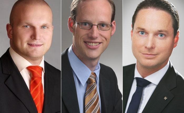 Robert Tolj (l.), Frank Warmers (m.) und Marc Knabben