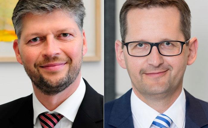 Rolf Kieckebusch (l.), Vorstand der Kirix Vermögensverwaltung und Jörg Stotz, Geschäftsführer der Kapitalverwaltungsgesellschaft Hansainvest