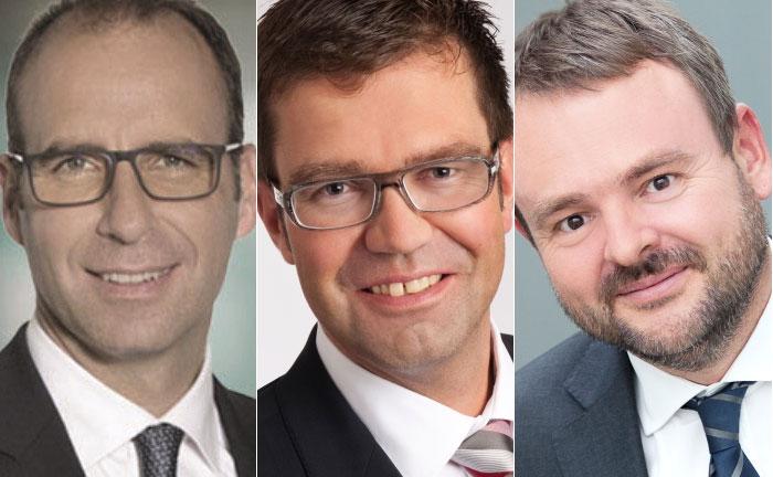 Jürgen Herter (l.), Helmut Kretschmer (m.) und Florian Widmer