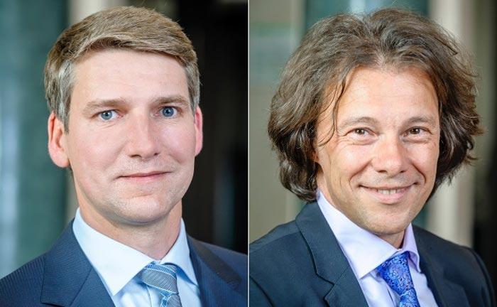 Andreas Grünewald, Vorsitzender vom Verband unabhängiger Vermögensverwalter (l.), und Nero Knapp, dessen geschäftsführender Verbandsjustiziar