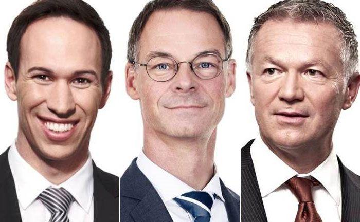 Sollen das Vorhaben der IBB ins Werk setzen: Alexander Stehle (l.), Abteilungsleiter Private Banking, der Bereichsleiter Private Banking Heinrich Hartmann (M.) und Joachim Hartel, Abteilungsleiter Asset Management