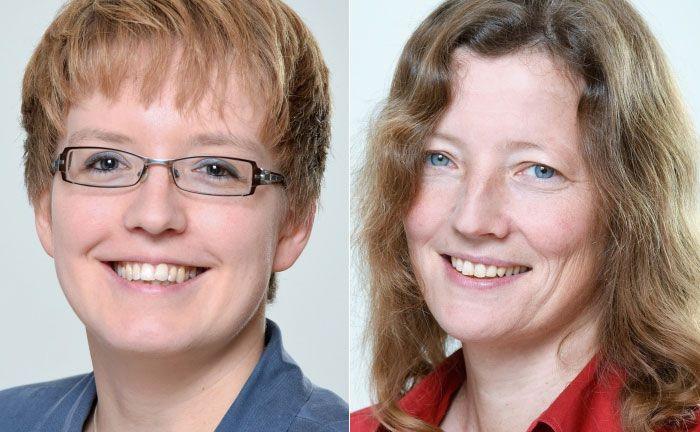 Haben das Thema Haftung von Stiftungsvorständen unter die Lupe genommen: Theresa Ratajszczak (l.), Wissenschaftliche Referentin und Antje Bischoff, Leiterin des Kompetenzzentrums Stiftungsforschung