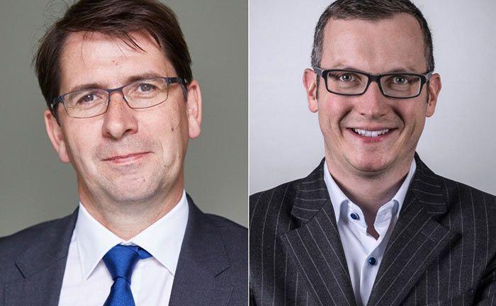 Lars Slomka (l.) ist Vorstand des unabhängigen Vermögensverwalters Hansen & Heinrich, Manuel Köppel ist Finanzvorstand der BF.direkt, einem unabhängigen Finanzierungsspezialisten für Wohn- und Gewerbeimmobilien-Projekte