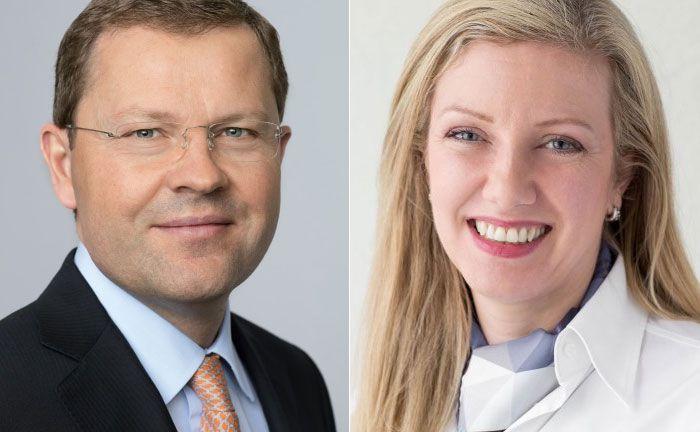 Jürg Zeltner (l.), Chef des UBS Wealth Management und Mara Harvey, Leiterin des Programms sowie Leiterin UHNW Deutschland, Österreich und Italien des UBS Wealth Management