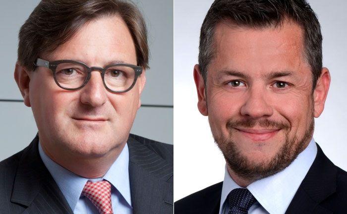 Yves Maas (l.) wechselt in den Verwaltungsrat, seine Nachfolge übernimmt Stéphane Herrmann