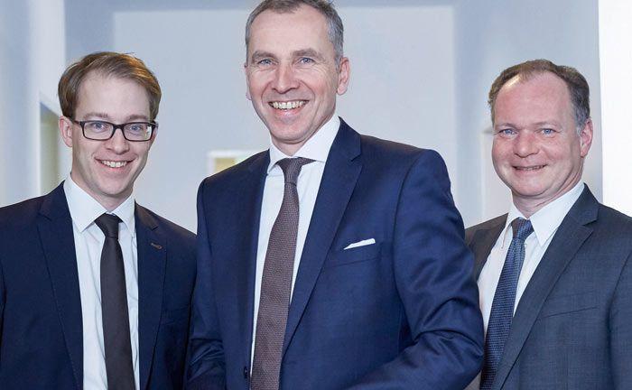 Leiten seit 2014 die Geschäfte von Maneris: Die Vorstände Heiko Vitt (l.) und Peter Engel (r.) sowie Vorstandsvorsitzender Andreas Muhl